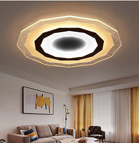 WANGFF Lámpara de Techo Moderno Redondo LED cálida Sala de Estar y Dormitorio romántico, lámpara de Techo Sala de Estar Cocina Blanca, 20cm