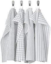 منشفة الشاي ايكيا RINNIG ، أبيض/رمادي داكن ، منقوشة ، 18 × 24 (45 × 60 سم)