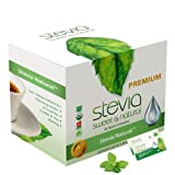 Stevia Intl Organic Stevia Powder. All-Natural Stevia Sweetener, Best for Sugar Substitute, Highly Concentrated & 100% Pure Stevia Extract. 0 Calorie, 0 Carb, Diabetic & Keto Friendly (100-Packets)