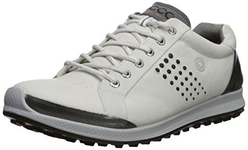 ECCO Men's Biom Hybrid 2 Hydromax Golf Shoe, White/Black, 41 M EU (7-7.5 US)