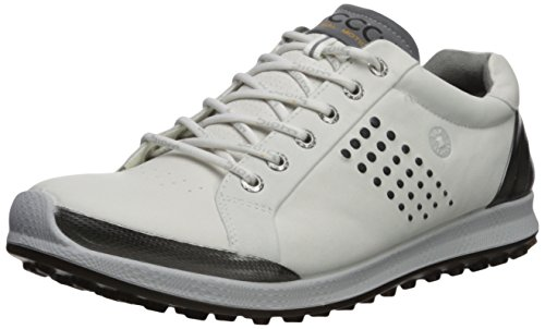 ECCO Men's Biom Hybrid 2 Hydromax Golf Shoe, White/Black, 44 M EU (10-10.5 US)