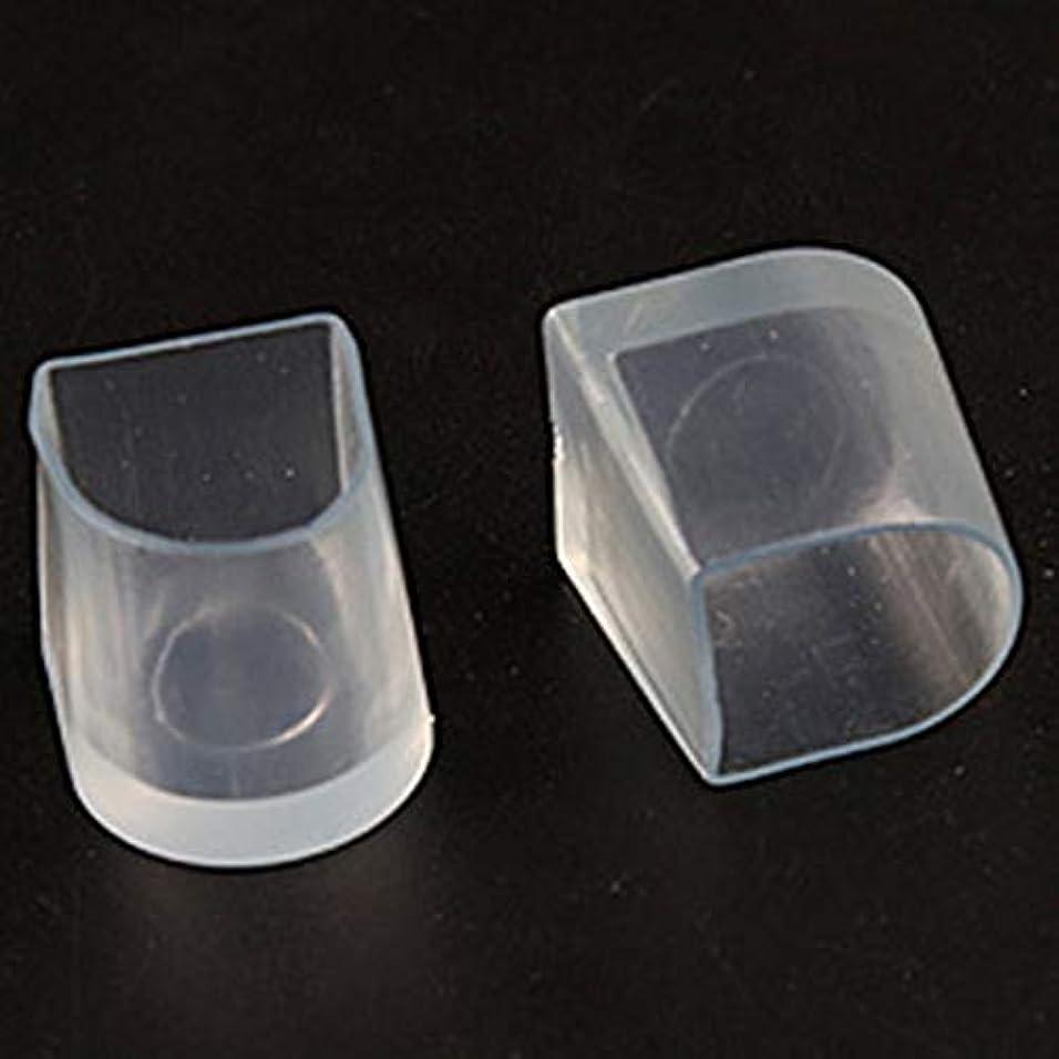 間違えたトリップ保持する1ペアハイヒール保護カバーラテンスティレットダンスカバーヒールストッパー滑り止め耐摩耗性 - 透明L