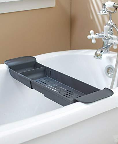 VERYN for Extendable Bath Tub Bathtub Caddy Storage Caddie - Gray Bathroom Organizer Supplier for Plaques & Signs Décor Pillows