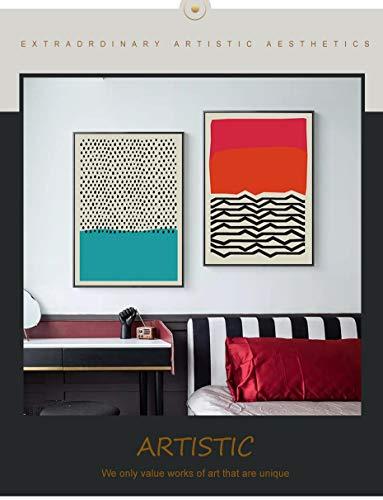 Moderne veelkleurige abstracte geometrische schilderkunst op canvas wall art pop afbeelding poster en grafiek galerij kinderen keuken huisdecoratie frameloze schilderij 50x70cm