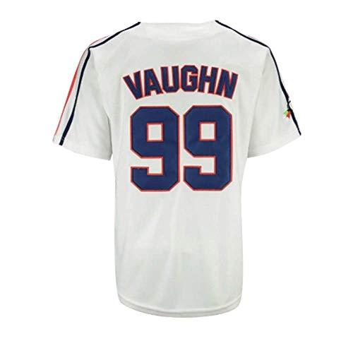 borizcustoms Ricky Vaughn Men's Movie Baseball Jersey White