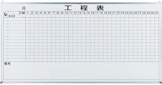 【メーカー直送】TRUSCO スチール製ホワイトボード 工程管理表 900X1800 OL25-8000 【5042640】