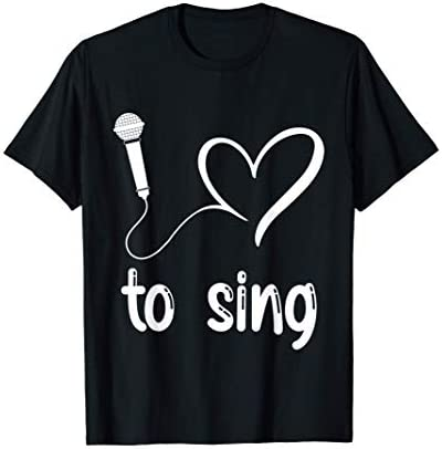 I Love to Sing Cute heart singer gift T Shirt product image