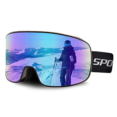 OULAIQI OTG Ski Goggles Ski Snowboard Goggles UV Protection Anti Fog Motorcycle Ski Goggles For Men Women Youth Snow Goggles For Cycling Skiing Climbing