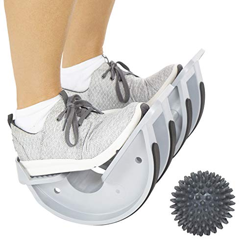 Vive Dual Calf Stretcher - Foot Rocker for Achilles Tendinitis, Heel, Feet, Shin Splint, Plantar Fasciitis Pain Relief - Stretches Strained Leg Muscle - Ankle Flexibility Wedge - Left & Right Leg