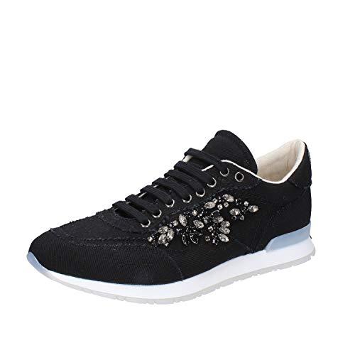 Twin-Set Sneakers Mujer Textil Negro 40 EU