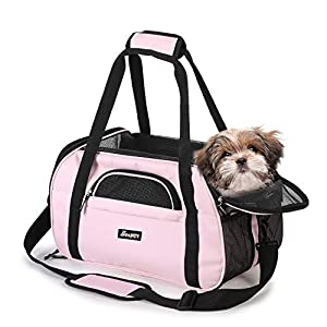JESPET Soft-Sided Kennel Pet Carrier for Small Dogs, Cats, Puppy, Airline Approved Cat Carriers Dog Carrier Collapsible, Travel Handbag & Car Seat