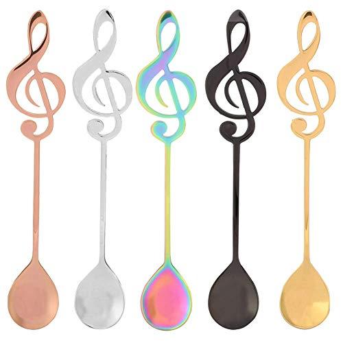 Cucharillas de café, cucharas de notas musicales de acero i