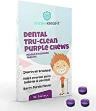Fresh Knight Tru-Clean Purple Chews, Plaque Disclosing Tablets 96 Count 3 Month Supply. Plaque Disclosing Tablets for Kids...