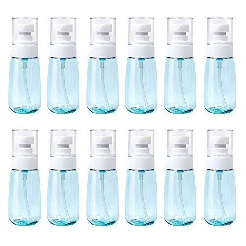 12 Stück Sprühflaschen 100 ml Sonnenschutz-Sprühflasche Unterteilte Flasche leer Behälter