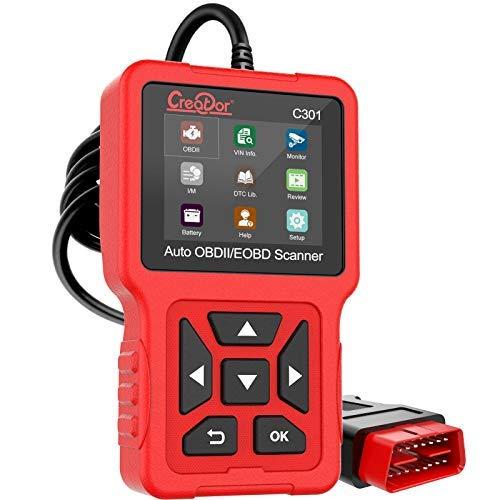 OBD2 Scanner Car Code Reader, Creator C301 OBDII Diagnostic Scan Tool for Vehicles Check Engine Light