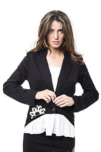 Mamatayoe Espiguette Chaqueta, Negro (Black), Large (Tamaño del Fabricante:L) para Mujer