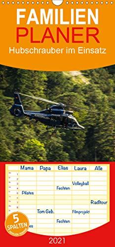Hubschrauber im Einsatz - Familienplaner hoch (Wandkalender 2021, 21 cm x 45 cm, hoch)