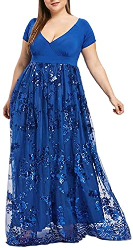Vestidos de vestir para mujer Orient Floral manga corta más tamaño Maxi vestido de cintura alta cinturón vestidos de noche playa