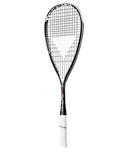 Raquete de Squash Tecnifibre Carboflex 135S Preta e Branca