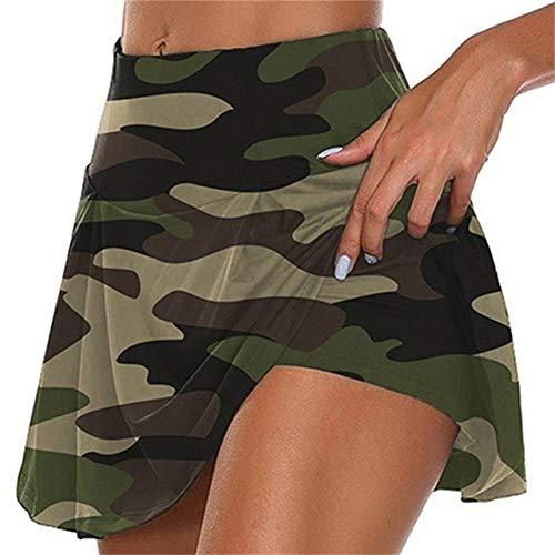 JJDSL Faldas para mujer, faldas deportivas, de secado rápido, pantalones de bádminton, pantalones plisados, ropa de porristas, falda de tenis para niñas, verde, XL