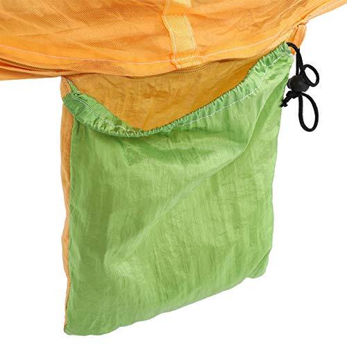 Hamaca para acampar, hamaca para acampar al aire libre, mosquitera, tela de paracaídas resistente, tejido de algodón de calidad, columpio para cama colgante para interior, exterior(Amarillo)