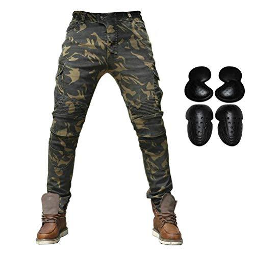 PLEASUR Motorfiets Riding Broek Denim Jeans voor Mannen Motocross Racing Armor Broek met Upgrade Afneembare Knie Hip Protector Pads