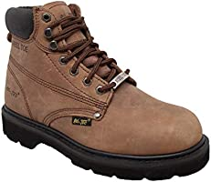 Ad Tec Mens 6 Inch Work Boot, Specially Designed for Construction and Industrial Work, Featuring with Genuine Nubuck...