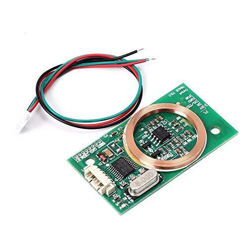 AILOVA - Lector de Tarjetas RFID inalámbrico UART 3 Pines 125 KHz Tarjeta EM4100 8 cm DC 5 V para Arduino Tarjeta Kit de Sensor de Antena de Tarjeta PCB