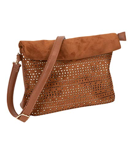 SIX Cognacfarbene Crossbody-Bag mit Cut-Outs (726-955)
