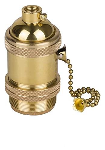 chyus Soporte de Bombilla E27 Socket de Bombilla de Estilo Edison con Interruptor de Encendido/Apagado para la Pared Pendiente de la Pared Scone DIY