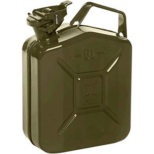 5L Metallkanister Stahlblech Kanister Tank NATO grün Wasserkanister
