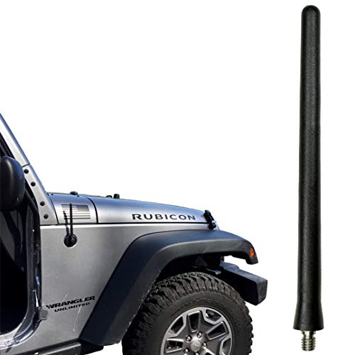 AntennaMastsRus - The Original 6 3/4 Inch is Compatible with Jeep Wrangler JK - JL - Gladiator (2007-2020) - Car Wash Proof Short Rubber Antenna - Internal Copper Coil - Premium Reception