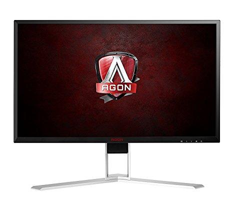 AOC Agon AG241QX 24' Gaming Monitor, QHD 2560x1440, Adaptive-Sync, 144Hz, 1ms, DisplayPort/HDMI/DVI-D/VGA, QuickSwitch keypad, VESA (Renewed)