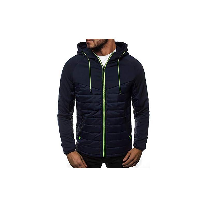 VANVENE Mens Casual Hoodies Zip up Sweatshirt Long Sleeve Splicing Cardigan Jumper