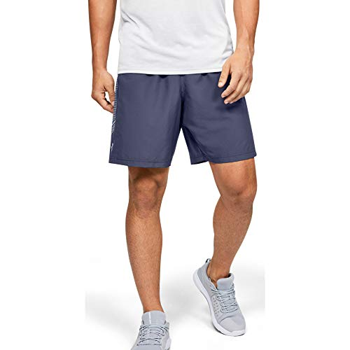 Under Armour Men's Woven Graphic Shorts , Blue Ink (497)/Mod Gray , Large
