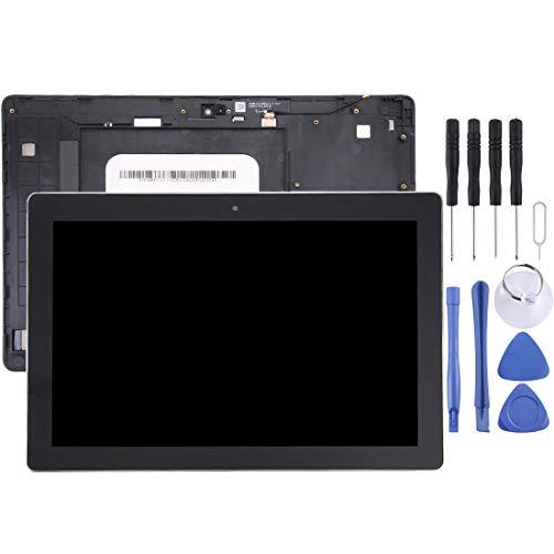 Nueva pantalla LCD y conjunto completo de digitalizador con marco for Asus ZenPad 10 Z300C / Z300CG / Z300CL / Z300CNL / P023 / P01T (versión verde de cable flexible) (negro) Neweian (Color : Black)