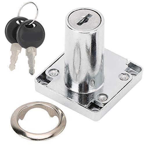 Cikonielf 3 unids/Set Cerradura con Llaves aleación de Zinc Cerradura de cajón de Escritorio gabinete de Oficina Armario Cerradura de Puerta Accesorio de Hardware