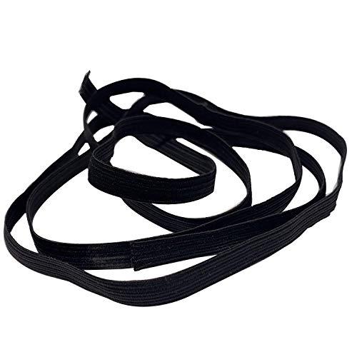 Trimming Shop Costura Cordón Elástico Bobina Hilo, Acabado Suave Elástico Banda Para Ropa, Punto, Bricolaje Proyectos, Hacer Joyas (7mm,Blanco) - Negro, 1 Metre