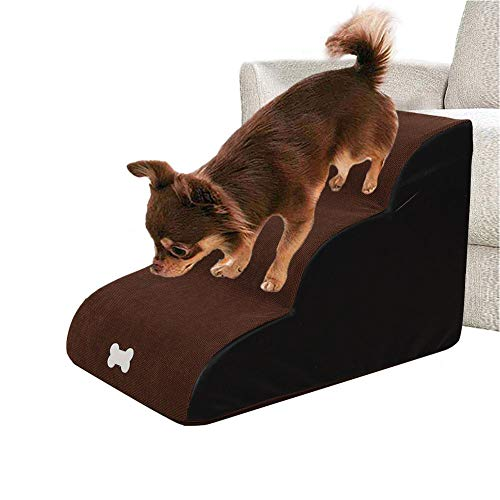 N/Y Dog Stairs Ladder Dog Ramp Pet Stairs Step Sofa Bed Ladder for Dogs Cats,604040 cm,for Small Medium Pet