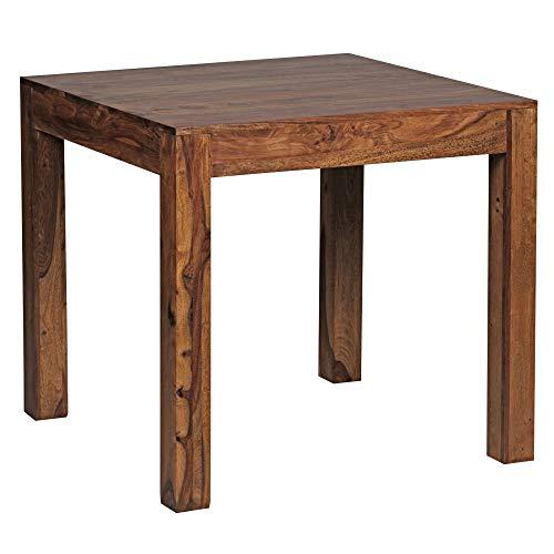Wohnling wl1.319 carré en Bois Massif Sheesham Table à Manger 80 x 80 cm