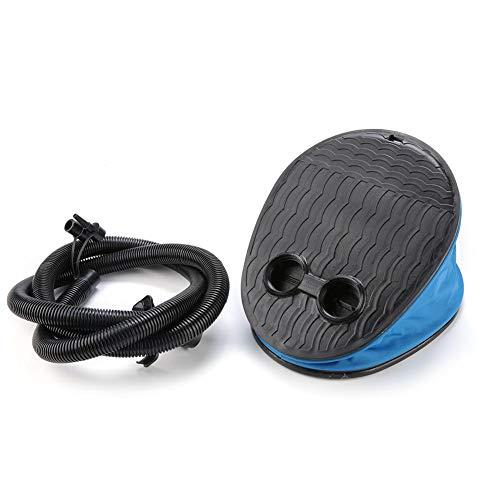 VGEBY1 Pump Inflator, tragbarer Fußluftpumpen-Inflator aus Kunststoff zum schnellen Aufblasen und Entleeren von Luftmatratzen für Gymnastikbälle