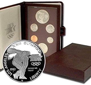1983 US Mint Prestige Proof Set Original Government Packaging with Silver Olympic Dollar Proof