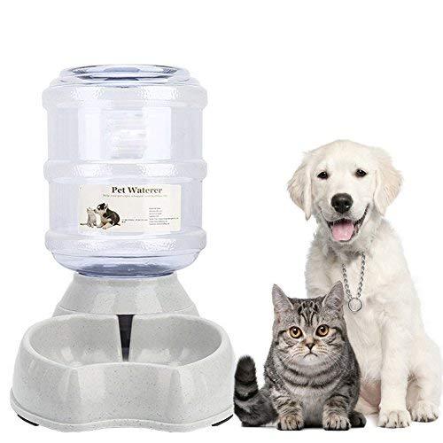 Old Tjikko Haustier Automatischer Wasserspender, Wasserspender für Hunde Katze, Automatischer Trinkbrunnen, Haustier Trinkflasche Tierzubehör für Hunde Katzen,3.8 Liter,PBA frei