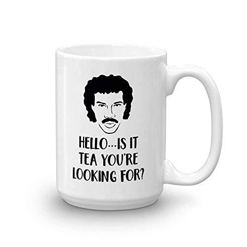 Hello is it Tea You're Looking for Funny Retro 80's pop Culture Coffee or Tea Mug Gift, Funny Mugs, Funny Coffee Mugs, Gift for her