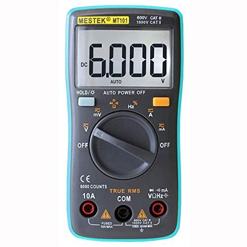 GYW-YW Multímetro digital Digital Profesional sonda Tester 6000 cuentas de los contadores digitales Multímetros Multi Meter Multitester precisa