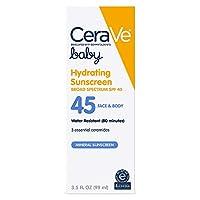 赤ちゃんの繊細なお肌に CeraVe ベイビーサンスクリーン SPF 45 99グラム ミネラルサンスクリーン&セラミド配合