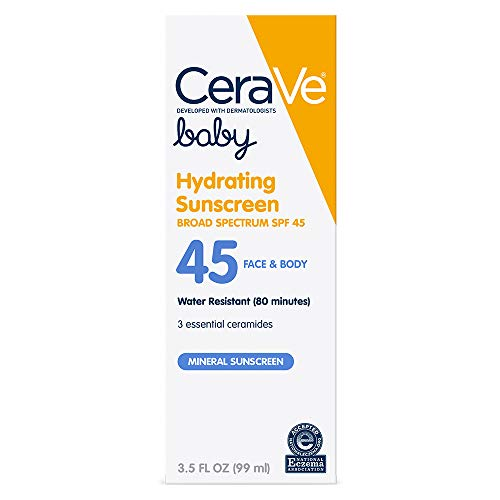 Product Image of the CeraVe Mineral Baby Sunscreen SPF 45 | Baby Sun Lotion to Help Protect Delicate...