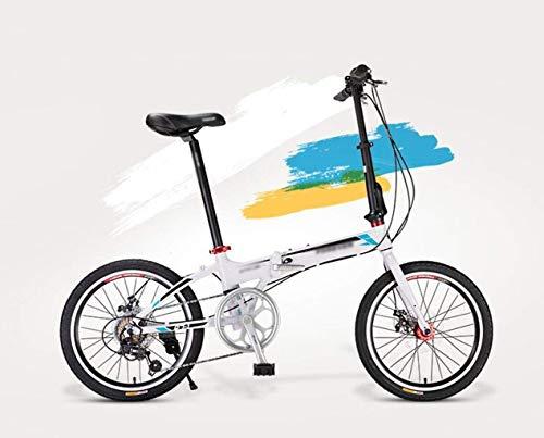 Plegable for bicicleta, Adulto Light Estudiante portátil de pequeño tamaño y de los hombres de la bici de la mujer, de 20 pulgadas variable de 7 velocidades velocidad City Sport conmuta de bicicletas