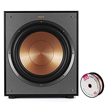 Klipsch 1065957 Reference Series R-100SW 10 inch 300W Subwoofer Bundle with Deco Gear 100ft Long 16 AWG Speaker Wire