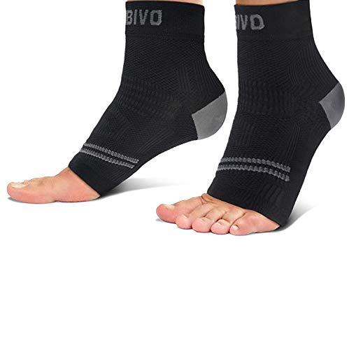 CAMBIVO 2 x Sprunggelenkbandage, Knöchelbandage, Fußbandage, Kompressionssocken für Herren und Damen, Plantar Fasciitis Socken für Sport, Fussball, Fitness